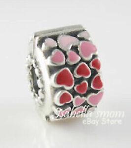 Brand  New Pandora Burst of Love Hearts Clip 796594ENMX