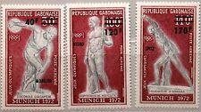 GABON GABUN 1972 489-91 C134-36 Olympics Munich Ancient Statues Gold Winner MNH
