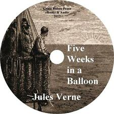 Five Weeks in a Balloon, Jules Verne Africa Adventure Audiobook on 1 MP3 CD