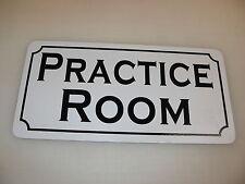 PRACTICE ROOM Metal Tin Sign 4 Music indoor Golf Driving Range Baseball Drum