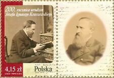 POLAND 2012 **MNH SC# Anniversary of the Birth J.Kraszewski - with label