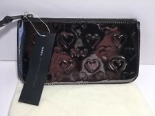 NWT MARC JACOBS limited edition mirror heart wristlet clutch wallet Gunmetal