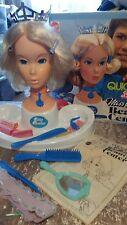 Poupée barbie miss america 1975 Centre de Beauté Quick Curl mod vintage rare Head