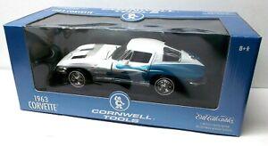 Ertl Cornwell Tools blue/white 1963 Corvette Split Window. 1:18 , New in box