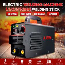 220V 20A-225A LCD Welding Inverter Machine MMA/ARC Stick Welder IGBT Portable