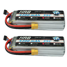 2pcs HRB 4S 14.8v 4200mAh 35-70C Helicopter AKKU Lipo Battery XT60 Quadcopter DE