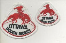 CFL Ottawa Rough Riders Embroidered Patch lot of 2 - medium & small