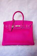 BNIB Authentic Hermes Birkin 35 Handbag Rose Tyrien Epsom Pink Pall. Hardware #Q