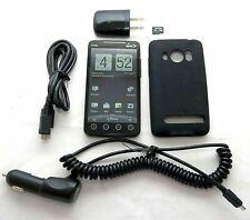 HTC EVO 4G Sprint PCS BLACK Google Android Smartphone Bluetooth PC36100 Grade C
