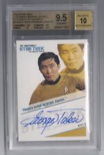 Star Trek Tos Quotable George Takei Sulu autograph auto card #Qa3 Bgs 9.5 10 Gem