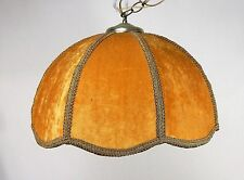 "Vintage ""Kinda Ugly"" Gold Velvet Ceiling Lamp"