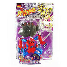 SPIDER-MAN WEB TRAP 1997 VINTAGE MONSTER SPIDER Europeo MOC giocattolo cardate MARVEL