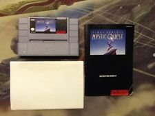 Final Fantasy Mystic Quest With Manual & Map SNES Tested & Working! Nintendo