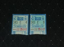 Lot of (2) October 25, 1981 Mont. Canadiens @ NY Rangers Hockey Ticket Stubs-MSG