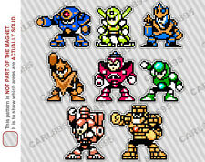 8bit Mega Man 5 Villain Cast Car/Refrigerator Magnets