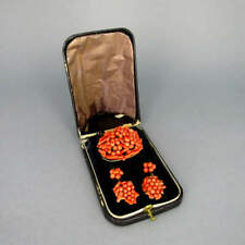 Antique Jewellery Set with Coral IN Box