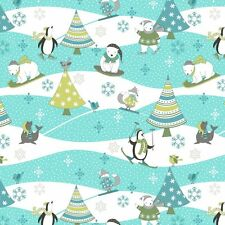 Flannel Cotton Fabric Quilting Sewing Crafting Arctic Antics 26534-417 bthy