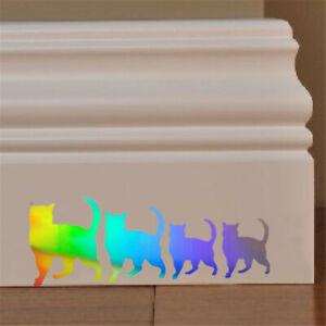 1pcs Four Pet Cat Family Decal Car Window Door Bumper Laptop Vinyl Sticker Decor