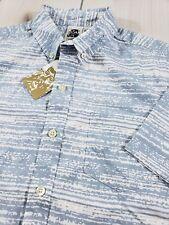 NWT KENNINGTON Short Sleeve Button Front Shirt 100% Cotton Men's Large  F76