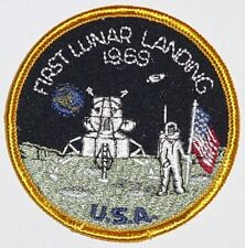 Aufnäher Patch Raumfahrt NASA First Lunar Landing 1969 .........A3053