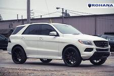 22x9 +30 Rohana RC10 5x112 Black Wheels Fit Mercedes Benz ML350 BlueTEC 2014 Rim
