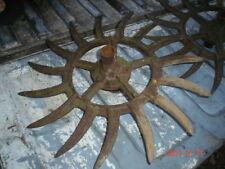 Vintage Industrial Iron Rotary Hoe Cultivator Wheel Garden Farm Yard Art