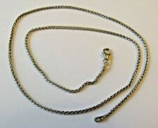 Starlink 18CT SOLID WHITE GOLD SPIGA NECKLACE 45cm 5.6grams