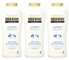 3 Gold Bond Ultimate Comfort Body Powder, Aloe And Chamomile, 10 oz, (Pack of 3)