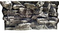 3D Grey Rock Aquarium Background Size: 77x42cm Can Fit: Fluval Roma 125