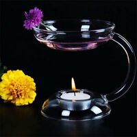 Elegant Aroma Glass Candlestick Candle Holder Oil Warmer Stove Decor Gift