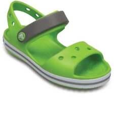 Scarpe verdi marca Crocs per bambini dai 2 ai 16 anni chiusura a strappo