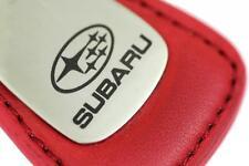 Subaru Leather Key Chain Red Tear Drop Key Ring Fob Lanyard WRX Sti