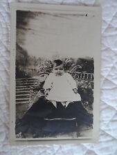 Carte Photo - Nourisson - Petite fille en robe de baptême