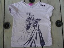 T-shirt manches courtes parme imprimé violet Rayponce DISNEY taille 4-5 ans
