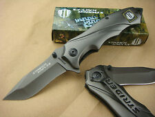 STRIDER 313 Full Steel Folding Knife 5Cr13 Blade Camping  With Clip Hunting OEM