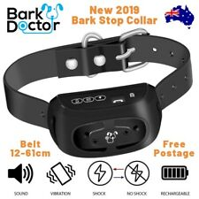 2019 BARK DOCTOR PB10 BARK STOPPING COLLAR RECHARGEABLE SOUND VIBRATION STATIC