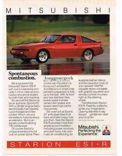 1986 Mitsubishi Starion ESI-R Red Vtg Print Ad