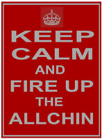 "Wm ALLCHIN (Steam Roller Traction Engine Wagon) ""KEEP CALM"" METAL SIGN PLAQUE"