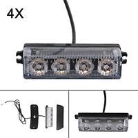 4 LED Car Truck Breakdown Warning Strobe Light Bar Flashing Hazard Beacon 12-24V