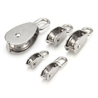 304 Stainless Steel Towing Wheel, 1*Swivel Lifting Wire Rope Cable Pulley Roller