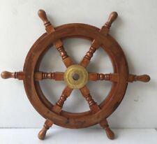 "Nautical Wooden Ship Wheel Home Wall Decor 36"" Captain Boat Ship Steering Wheel"