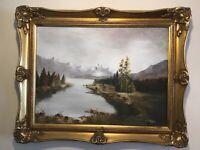 Vintage Gilt framed signed original oil painting on Canvas