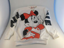 VTG DISNEY DESIGNS Minnie Mouse All Over Print Double Sided Sweatshirt XL NWT