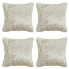 Fluffy Faux Fur Super Soft Sofa Chair Home Decor Filled Cushion Cover Pack Of 4