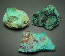53.4 Gram Total 3 X Australian Chrysocolla Rough Natural Pieces Specimen Mineral