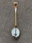 Antique 1912 German  800 Silver   Enamel Souvenir Spoon Herzog Christoph Denkmal