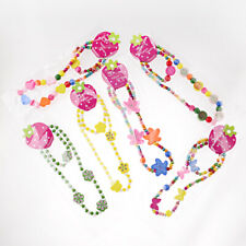12Pcs/Set Children Girl's Wooden Flower Heart Animals Beads Necklace&Bracelets