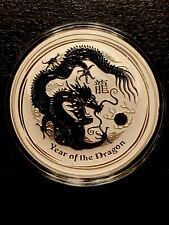 2012 Australian Lunar Year of the Dragon 1 OZ. .999 SILVER COIN $1 -Perth Mint