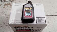 NEW OEM TOYOTA 5W30 GENUINE MOTOR OIL CASE OF 12 QUARTS .