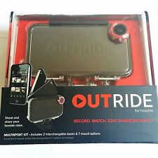 Brand New Mophie waterproof Outride Case for iPhone 4/4S Multisport kit- Black